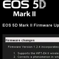 How to Update Camera Firmware – Canon 5D Mark II